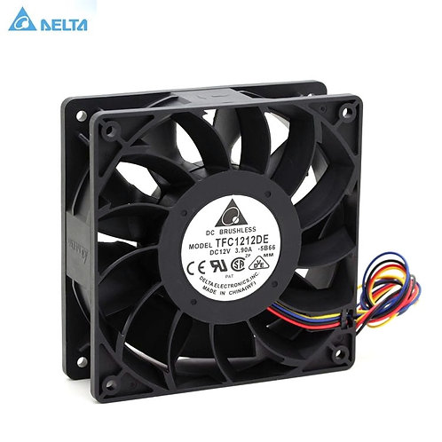 Bitcoin Miner Axial Cooling Fan | For Delta | 120mm | DC 12V | 5200RPM | 252CFM