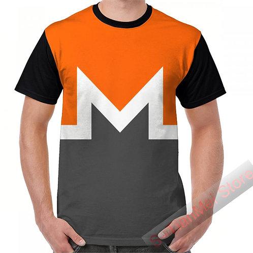 Monero | XMR | Bowling Shirt | Summer Graphic T-Shirt | Men Tops | Casual Tees