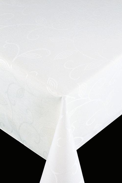 Flair Royal Tischdecke gesäumt Romance White