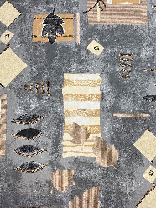 Flair Tischdecke eingefasst Graphic Grau