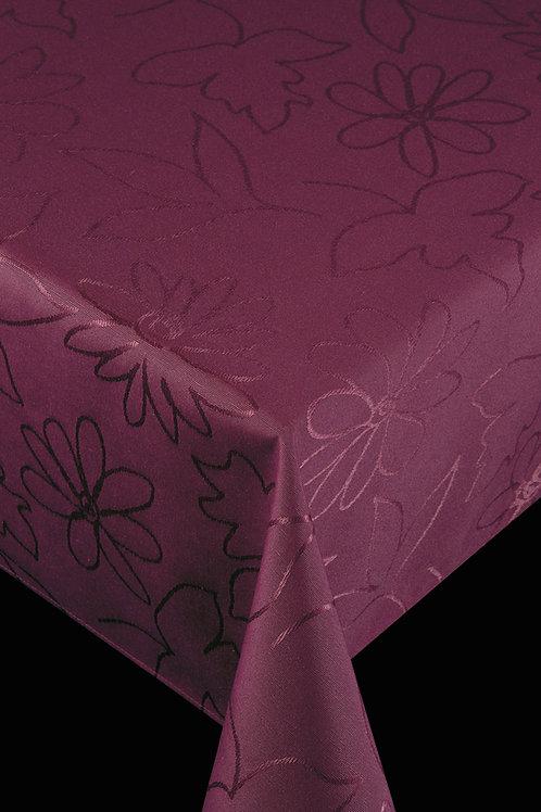 Flair Royal Tischdecke gesäumt Modern Flowers Bordeaux