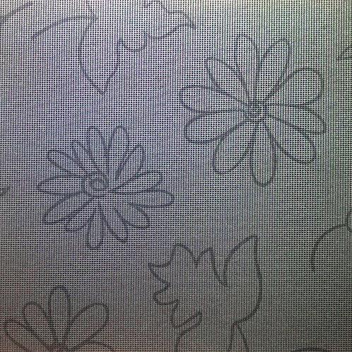 Gartentischdecke Modern Flower Grey