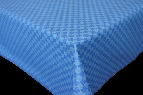 Flair Tischdecke eingefasst Karo Blue