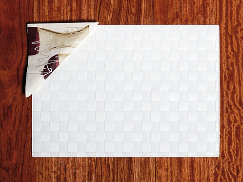 Tischset Quadro Art.40411 White