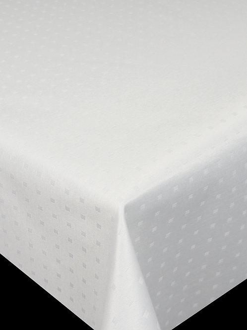 Flair Royal Tischdecke gesäumt Little Cube White