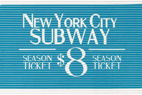 Motivmatte Art.77707 Ticket Turquoise
