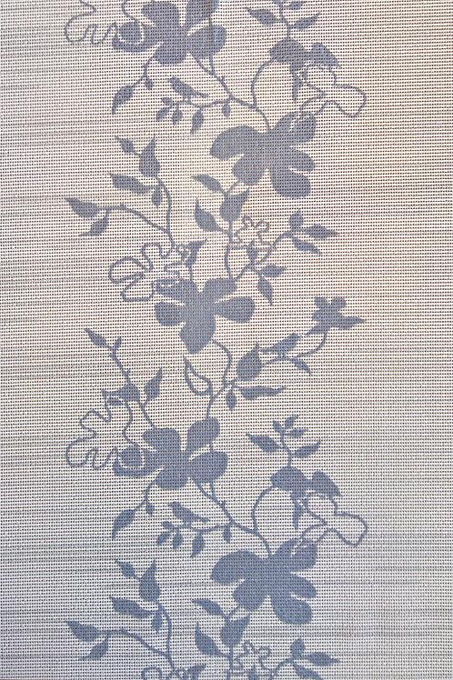 Tischläufer Miami Art. 25714 Flowers Grey White
