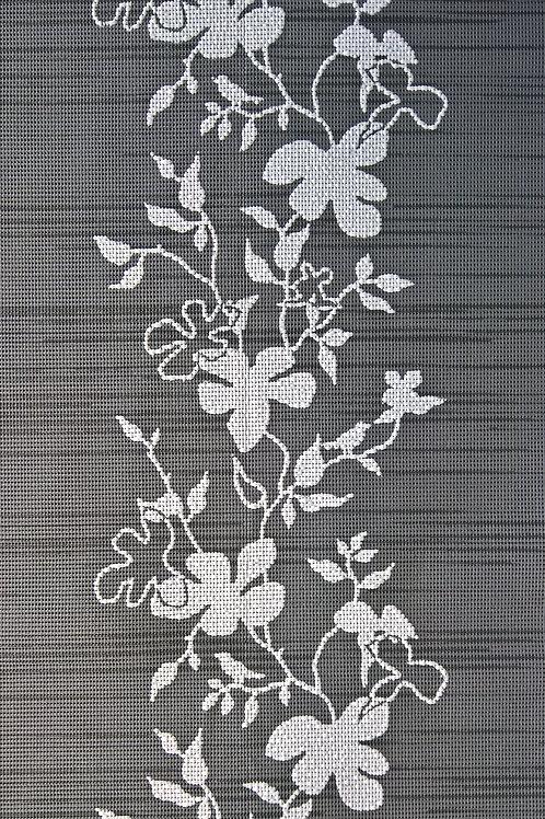 Tischläufer Miami  2.Wahl Art. 25707 Flowers Anthracite