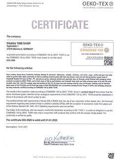 D03-0583-Zertifikat Öko-Tex-friedola-en