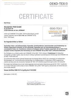 D08-0137-Zertifikat Öko-Tex-Wunderlich-