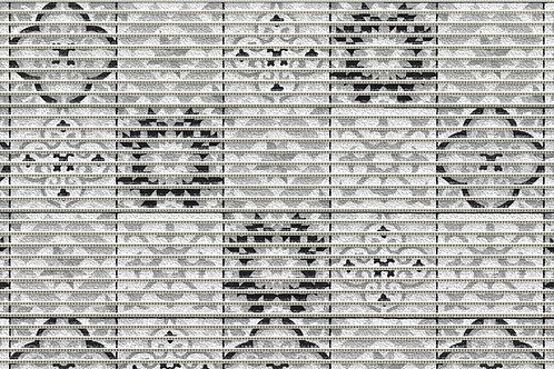 Motivmatte Art.77715 Tile Antique Black