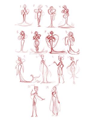 Valarie Thumbnail Sketches
