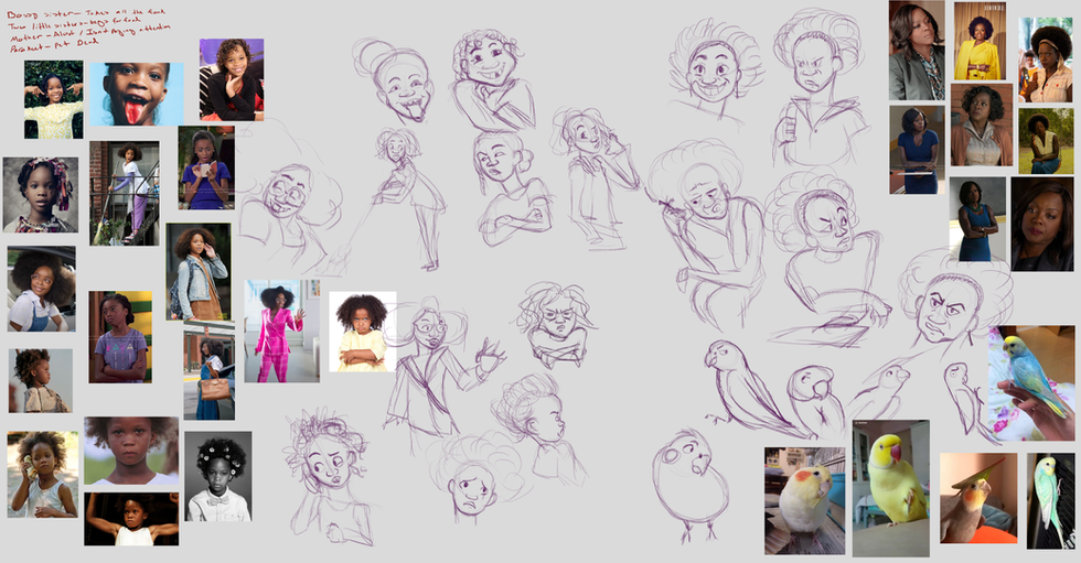 Rough Sketches and Refence Pictures