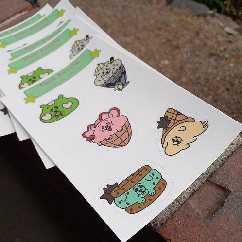 Ham Sweets Sticker Sheet