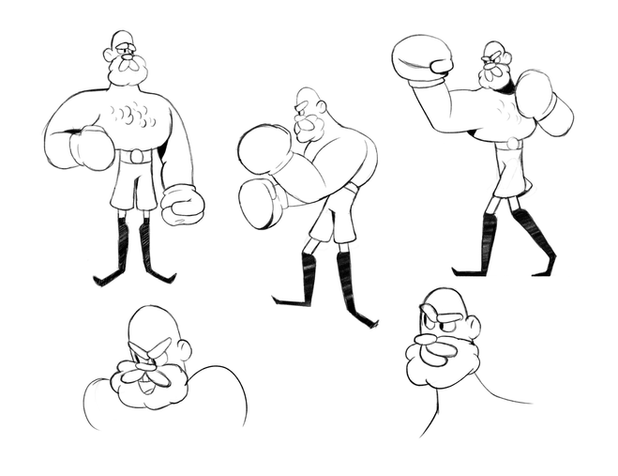 Boxer Character Pose Sheet