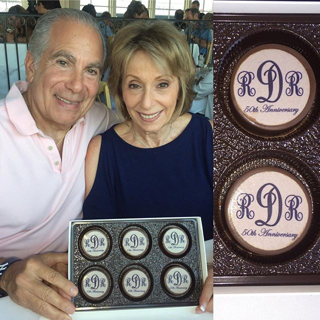 #happyanniversary #50thanniversary #50th _Chocolate covered Oreos with an edible image monogram