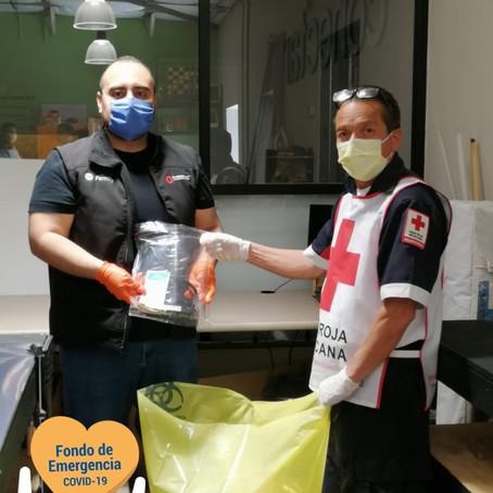 Cruz Roja recibió las primeras 50 máscaras de protección contra COVID-19