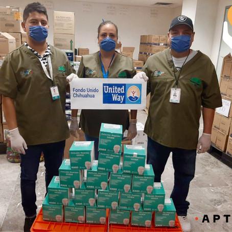 Entregamos equipo de protección para personal del Hospital General 450 de Durango