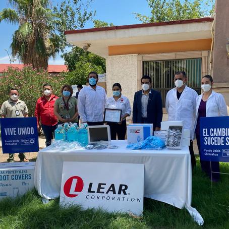 Cristalizamos nuestro apoyo al sector salud gracias a donativo de Lear Corporation