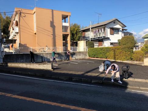 新年初掃除(周辺近所)