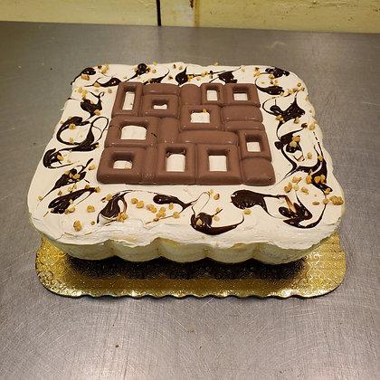 """Praline Cheese Cake - Square 10"""""""