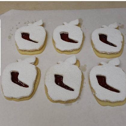 Apple shofer linzer cookie