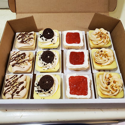 Assorted Cheese Cake Squares - On Plate