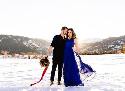 Styled Winter Elopement RMNP - Taylor Ni