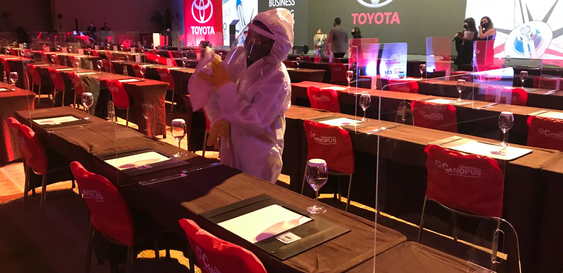 Evento Hibrido Toyota Desinfeccao