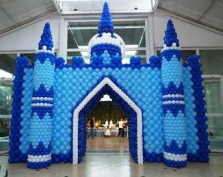 Castelo Frozen de Baloes