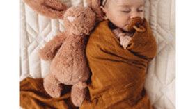 Bronze Organic Muslin Wrap - SNUGGLE HUNNY KIDS