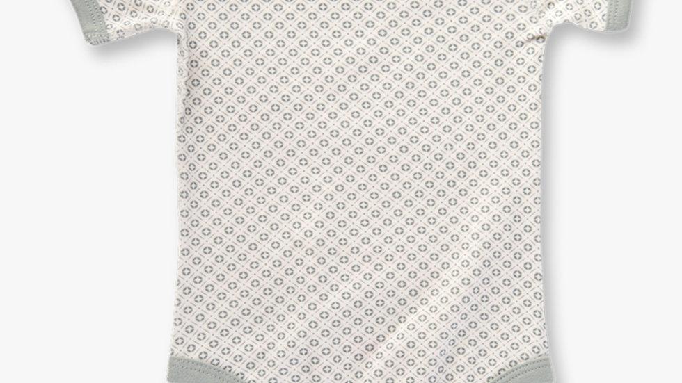 Dove Grey Short Sleeve Bodysuit - SAPLING ORGANIC