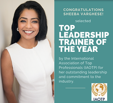 Top IAOTP Leadership Trainer of the Year
