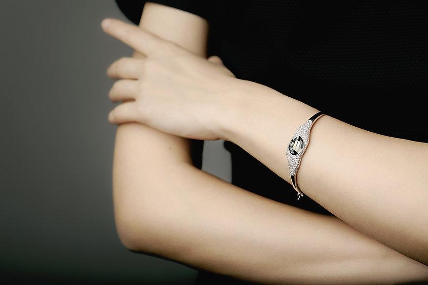 bracelet on arm