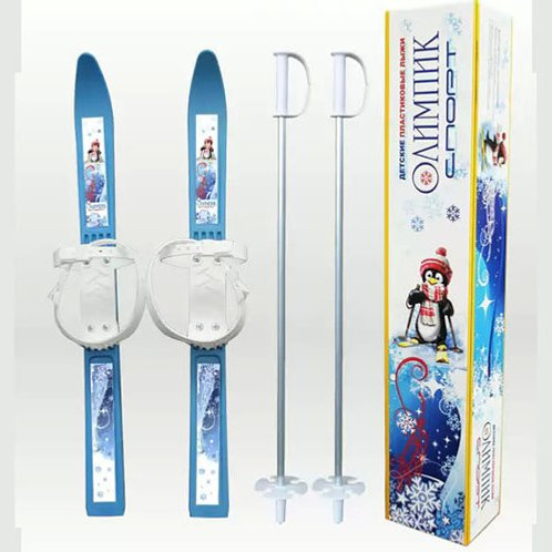 17-350 Мини-лыжи ЦИКЛ Олимпик-спорт с палками. длина 65см.