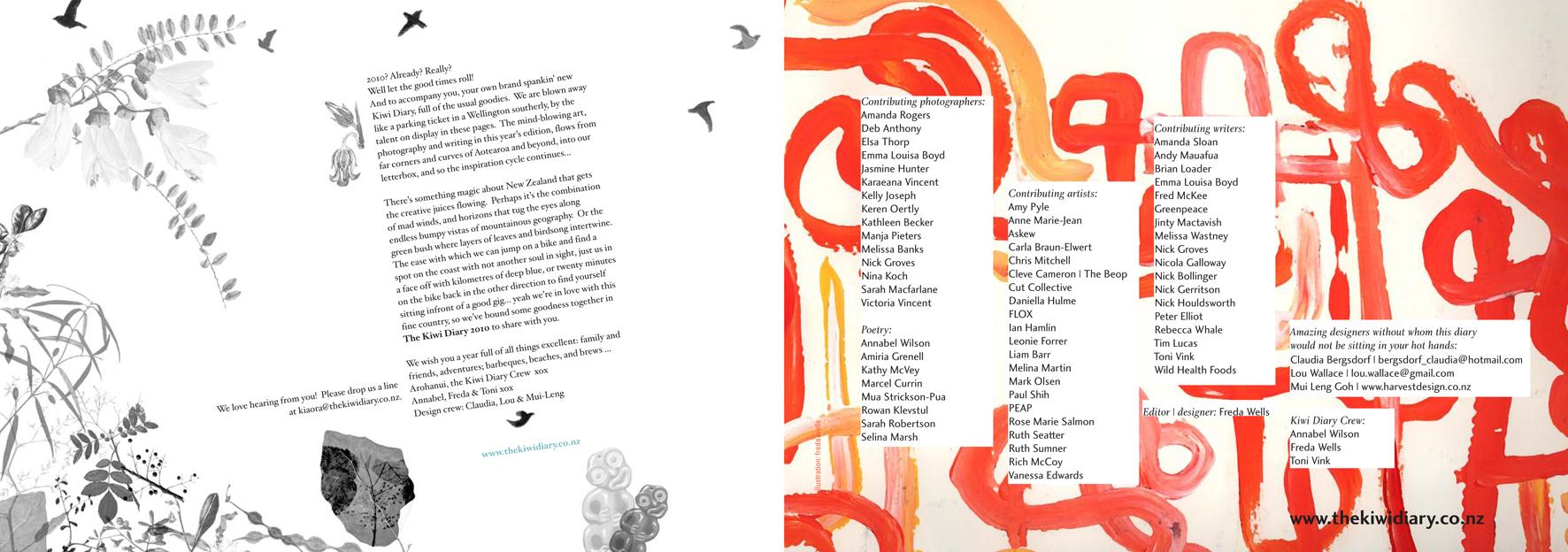 Kiwi Diary - spread
