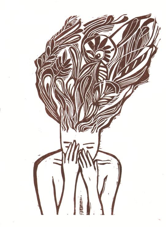 fiori in testa