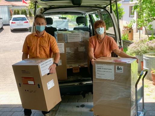 Zweite Lieferung mit COVID19-Hilfsgütern ist in Indien angekommen