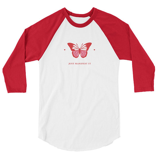 Manifest it 3/4 sleeve raglan shirt