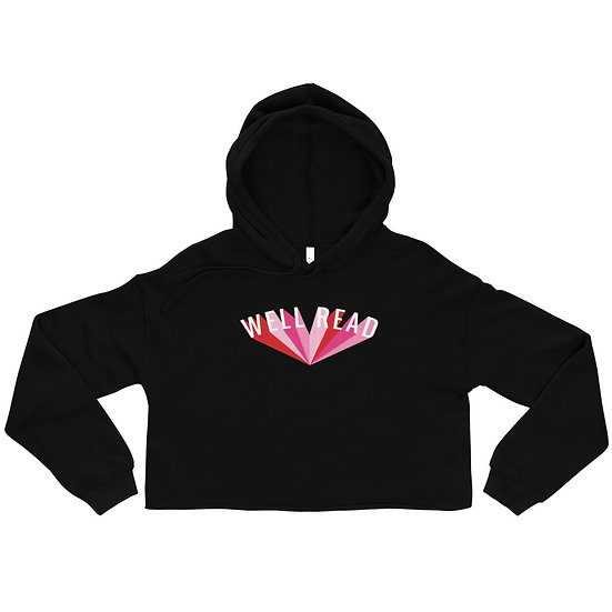 Well Read Crop Hoodie