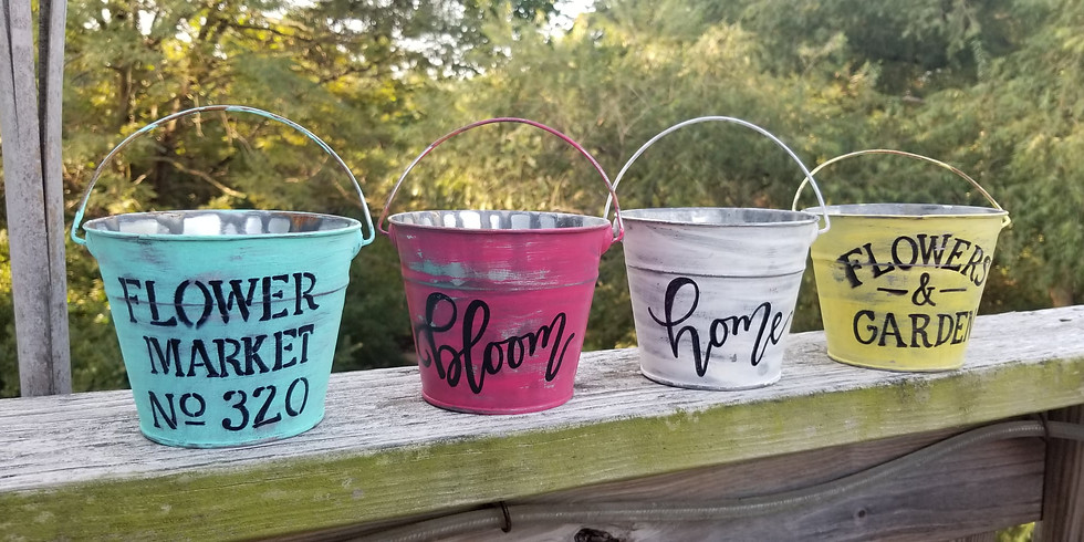 Hand-Lettering - Decorative Buckets 20APR