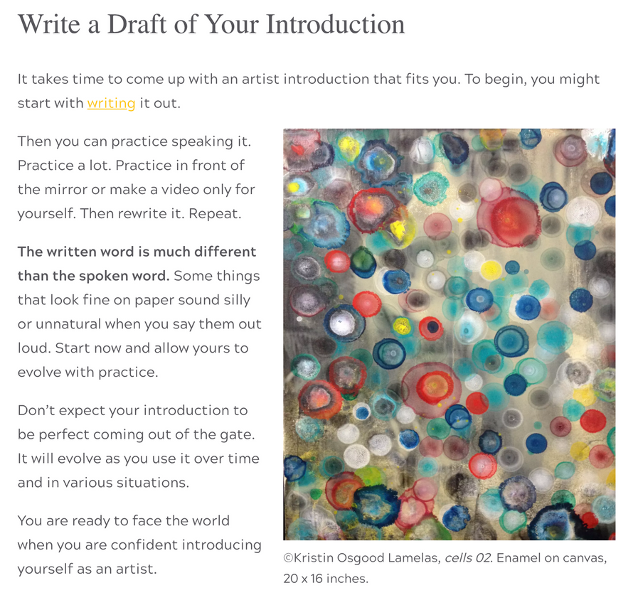 Excited to be featured on Alyson Stanfield's Blog Artbiz Success