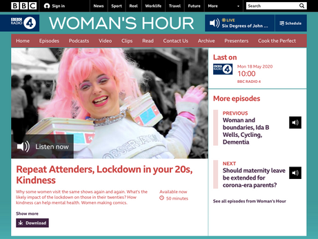 Radio: BBC Radio 4 Women's Hour interview