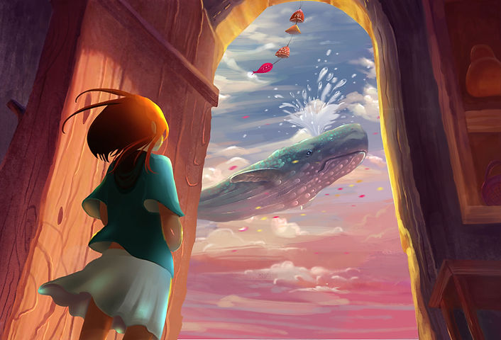 Niña y la ballena animado