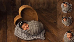 newborn baby girl photograph