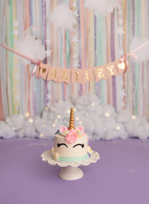 Astonishing Unicorn Cake Smash Session Sara Pope Photography Bay Area Ca Funny Birthday Cards Online Benoljebrpdamsfinfo