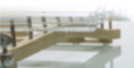 Détail du cadre en érable du Quartzophone H2 Harpe de Cristal