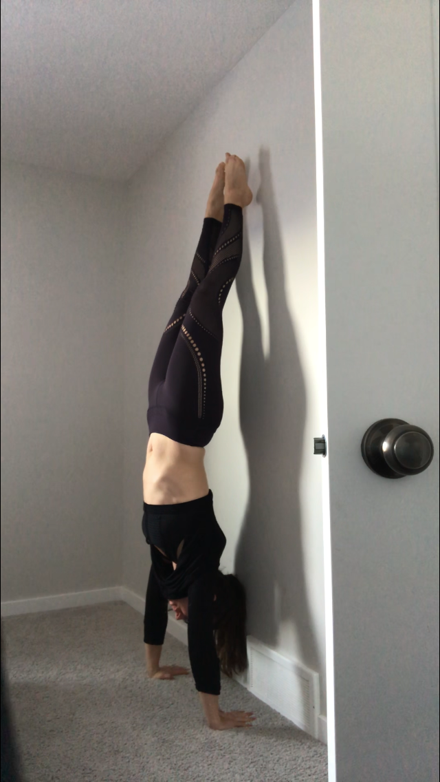 88 days post explant - practicing hand stand