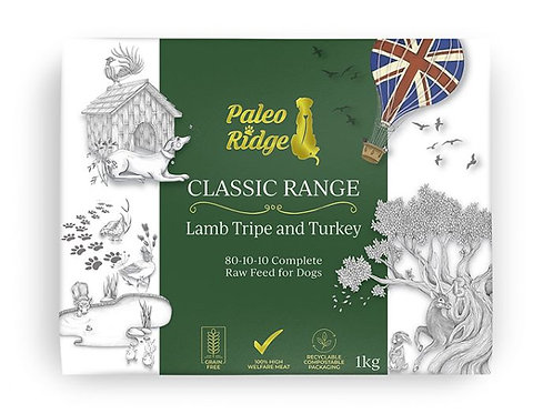 Paleo Ridge Classic Lamb Tripe and Turkey (1kg)