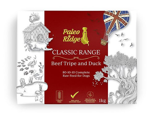 Paleo Ridge Classic Beef Tripe and Duck (1kg)
